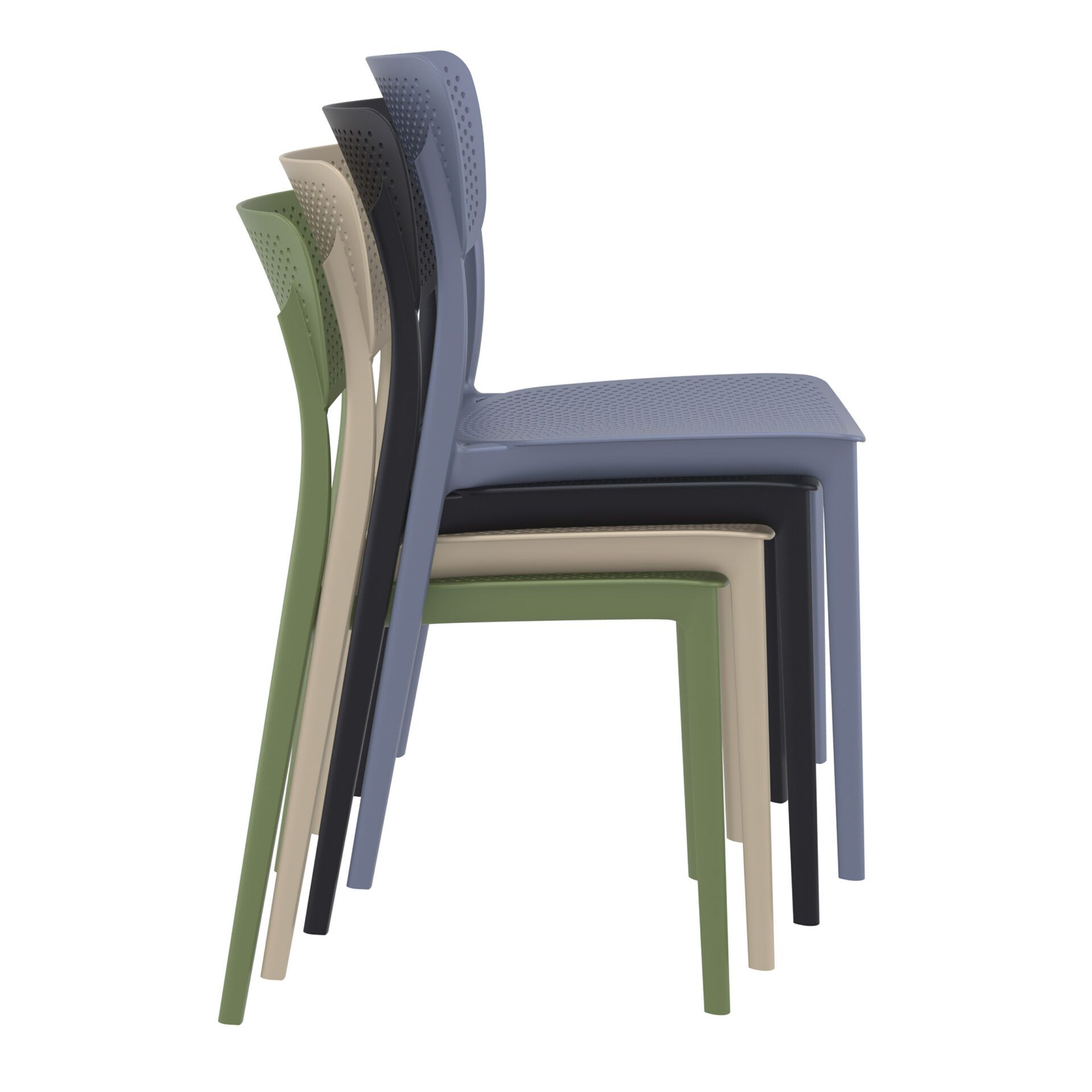 polypropylene hospitality seating lucy chair stack 1
