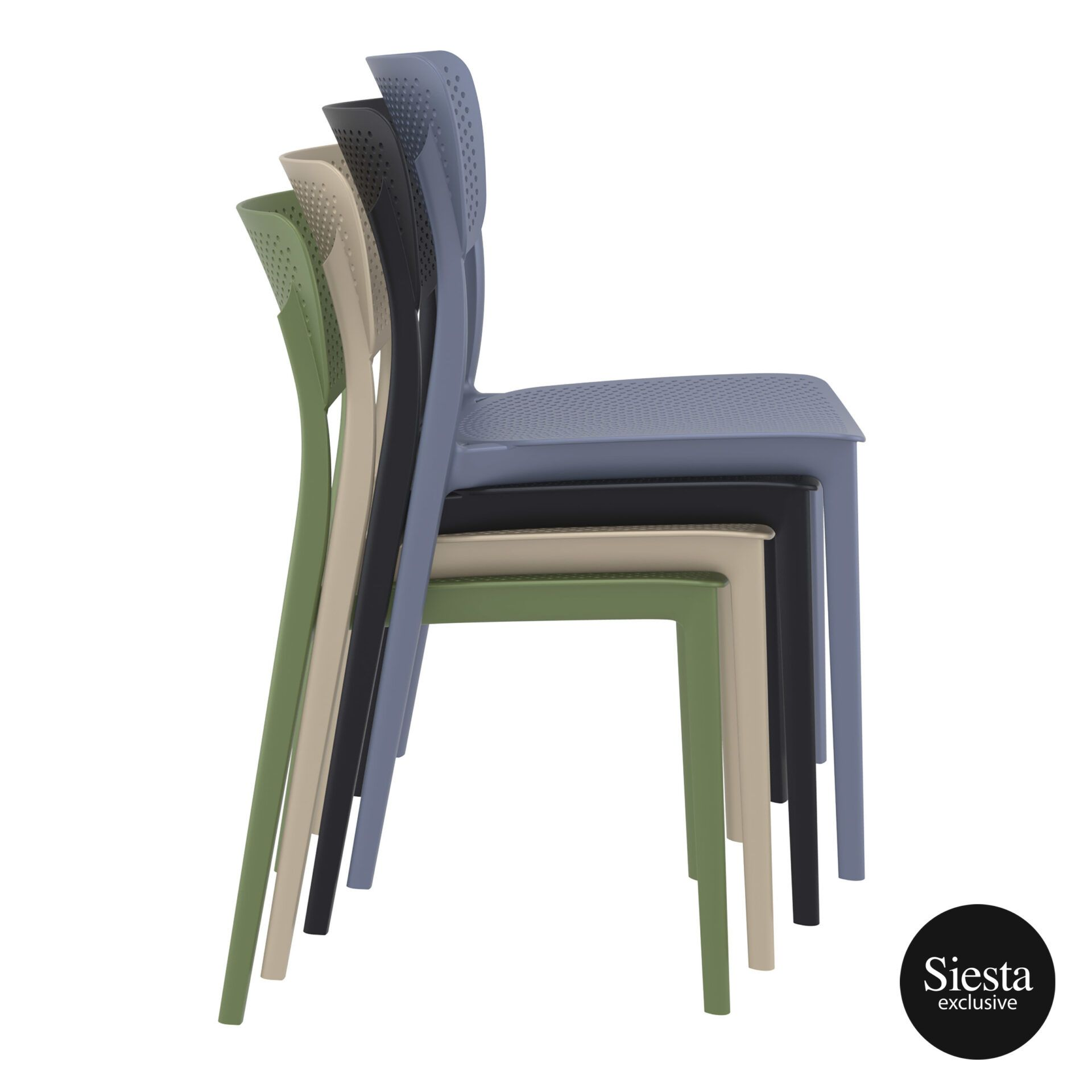 polypropylene hospitality seating lucy chair stack 1 1 1