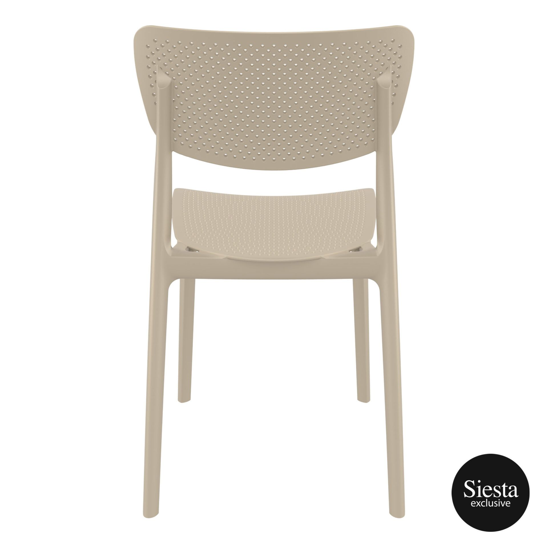 polypropylene hospitality seating lucy chair taupe back 1