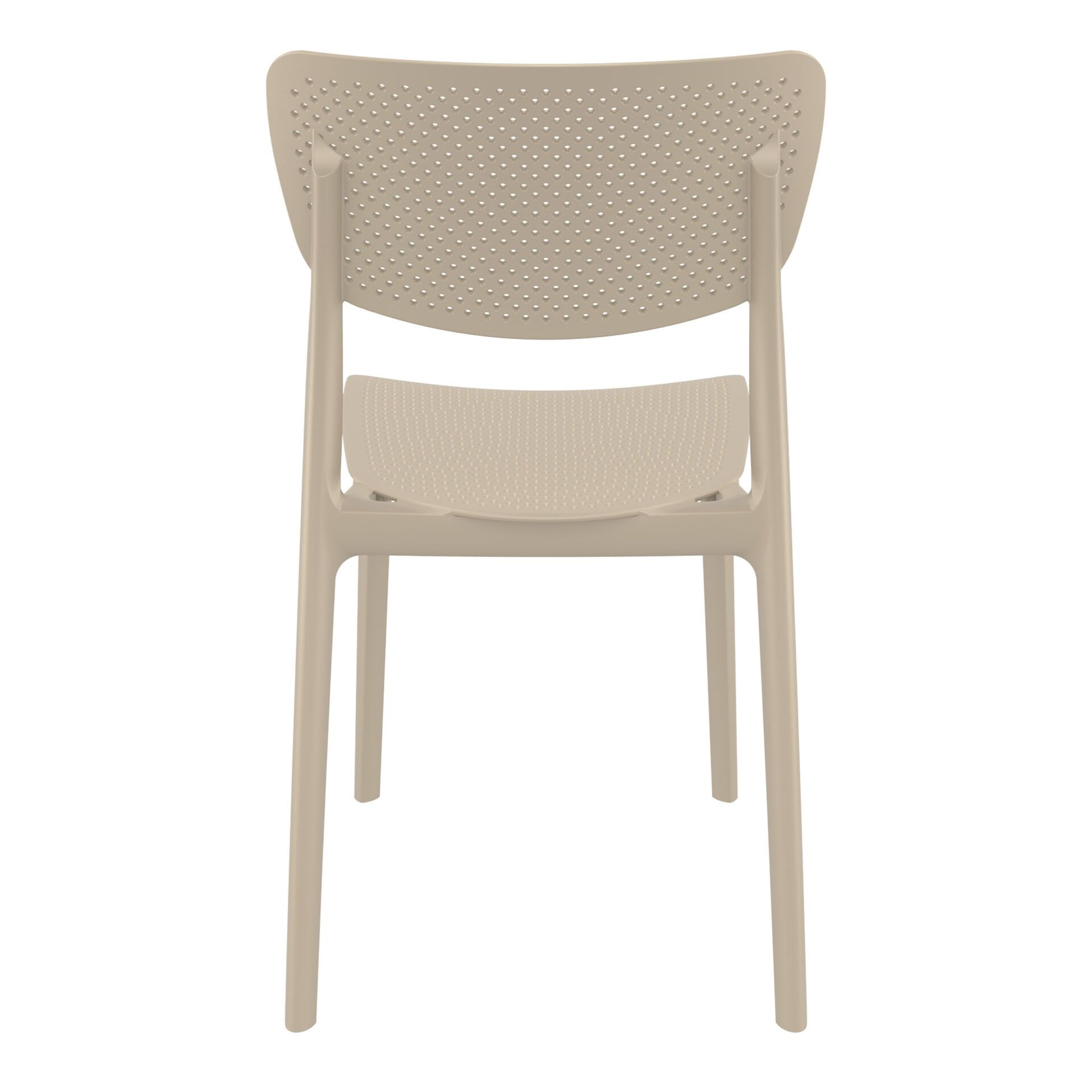 polypropylene hospitality seating lucy chair taupe back