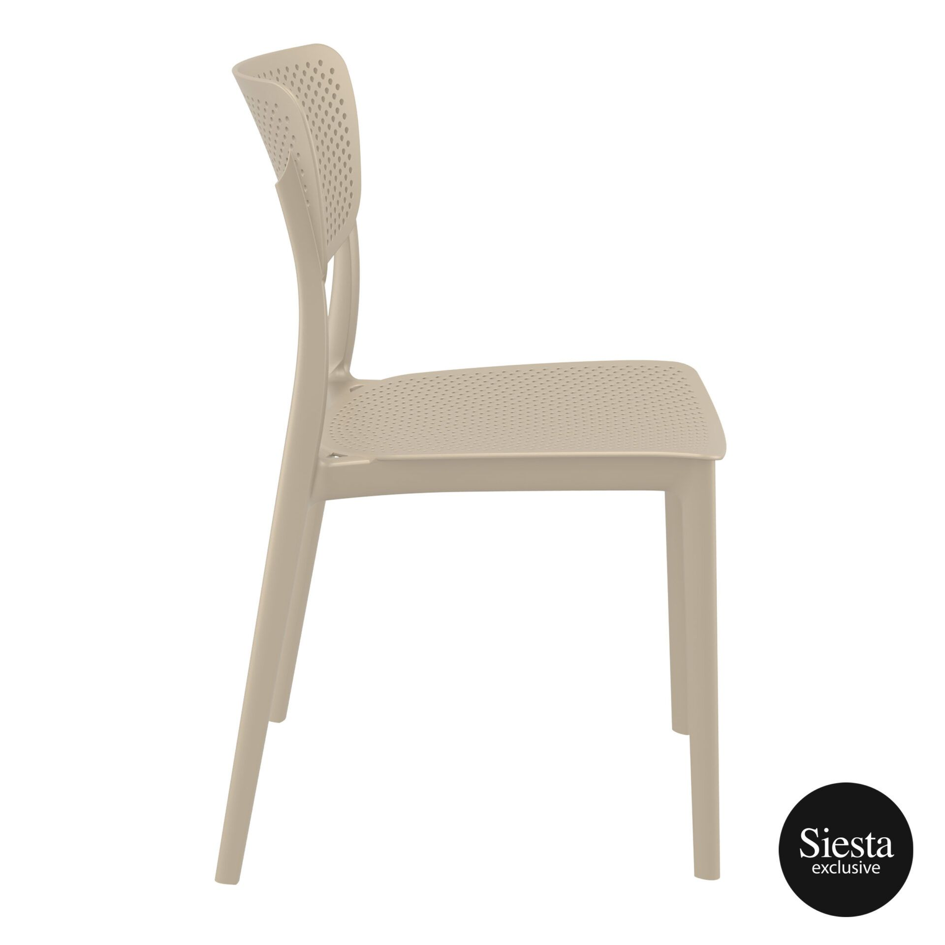 polypropylene hospitality seating lucy chair taupe side 1