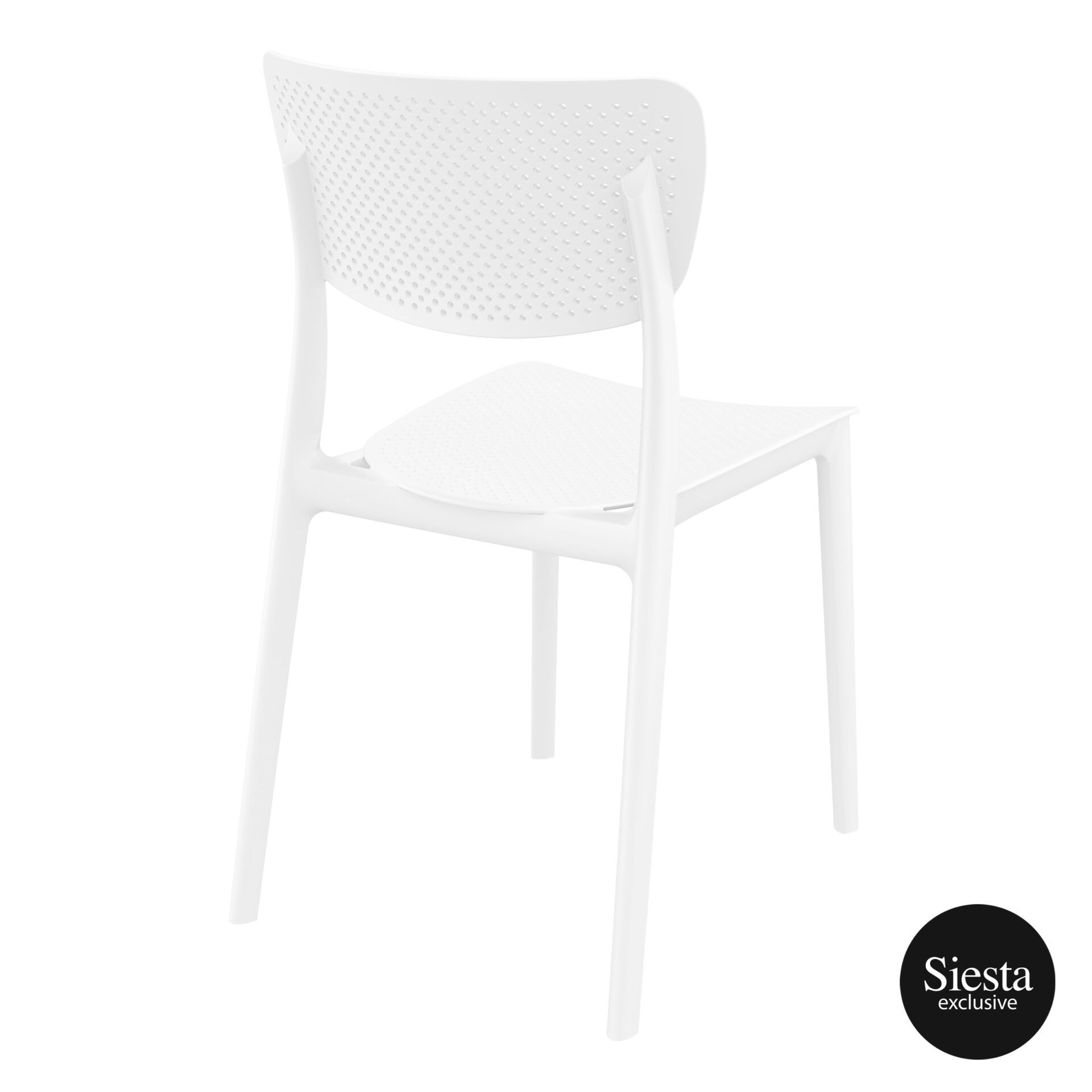 polypropylene hospitality seating lucy chair white back side 1