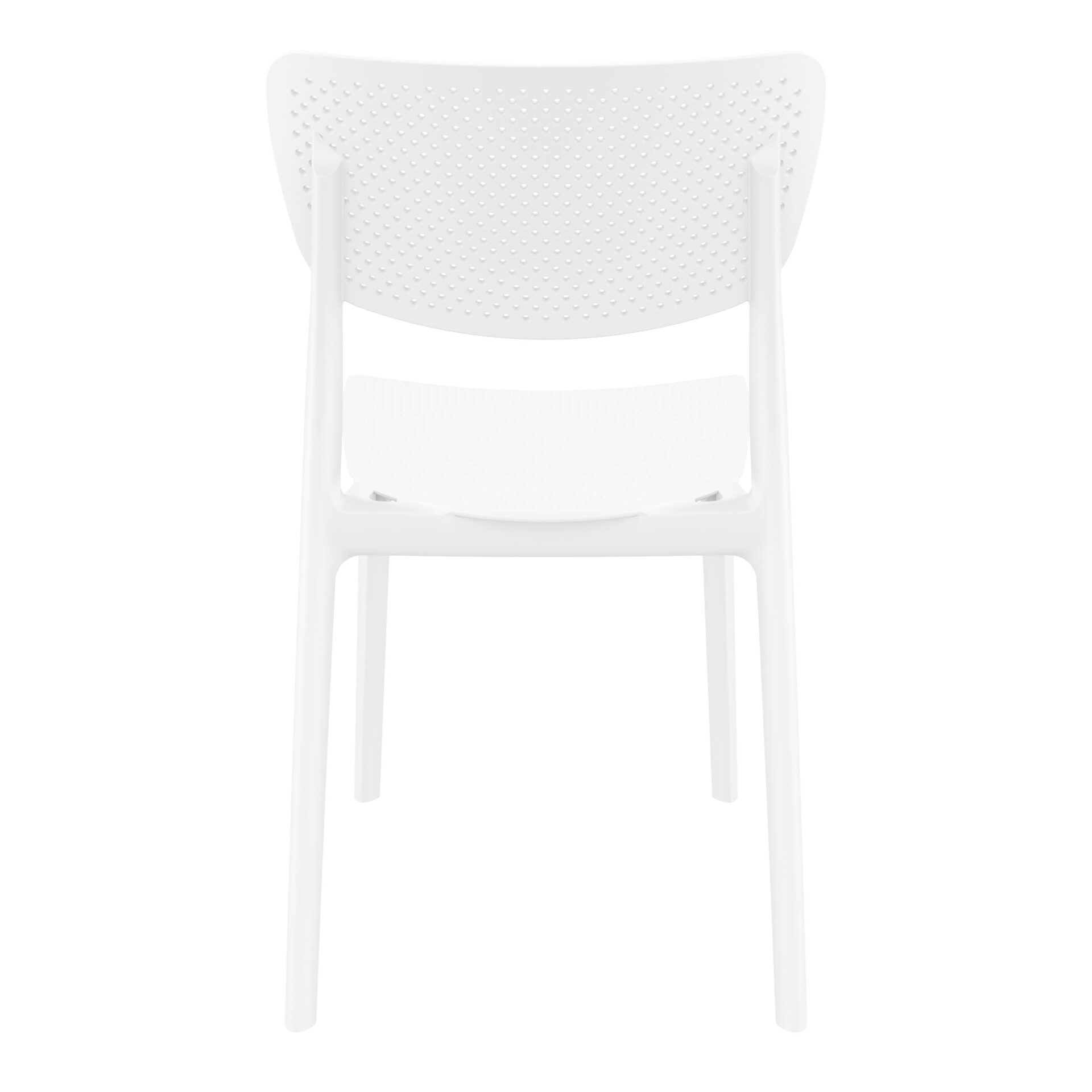 polypropylene hospitality seating lucy chair white back