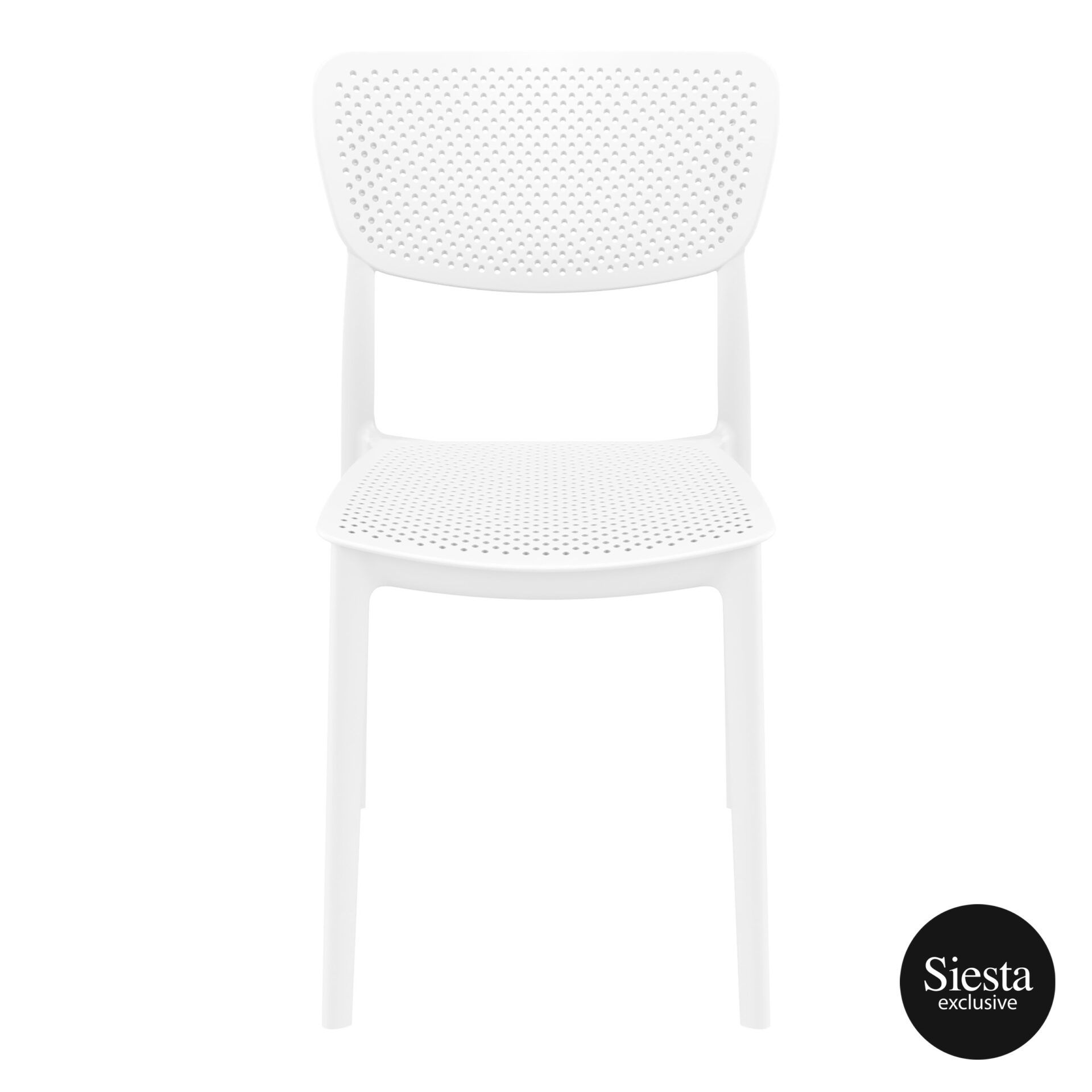 polypropylene hospitality seating lucy chair white front 1