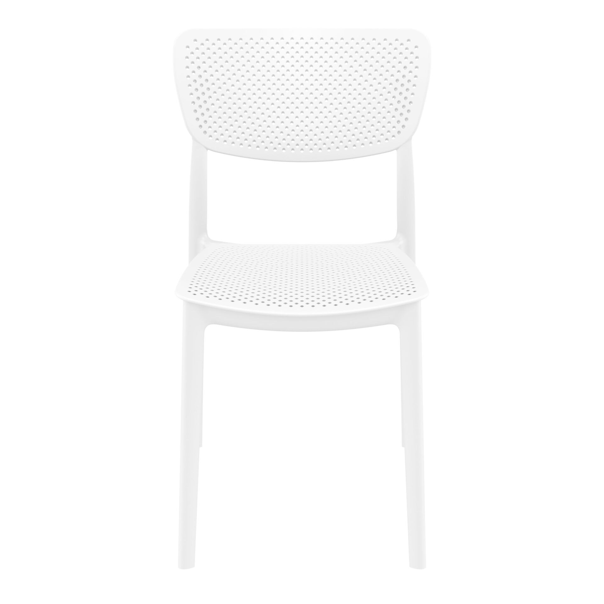 polypropylene hospitality seating lucy chair white front