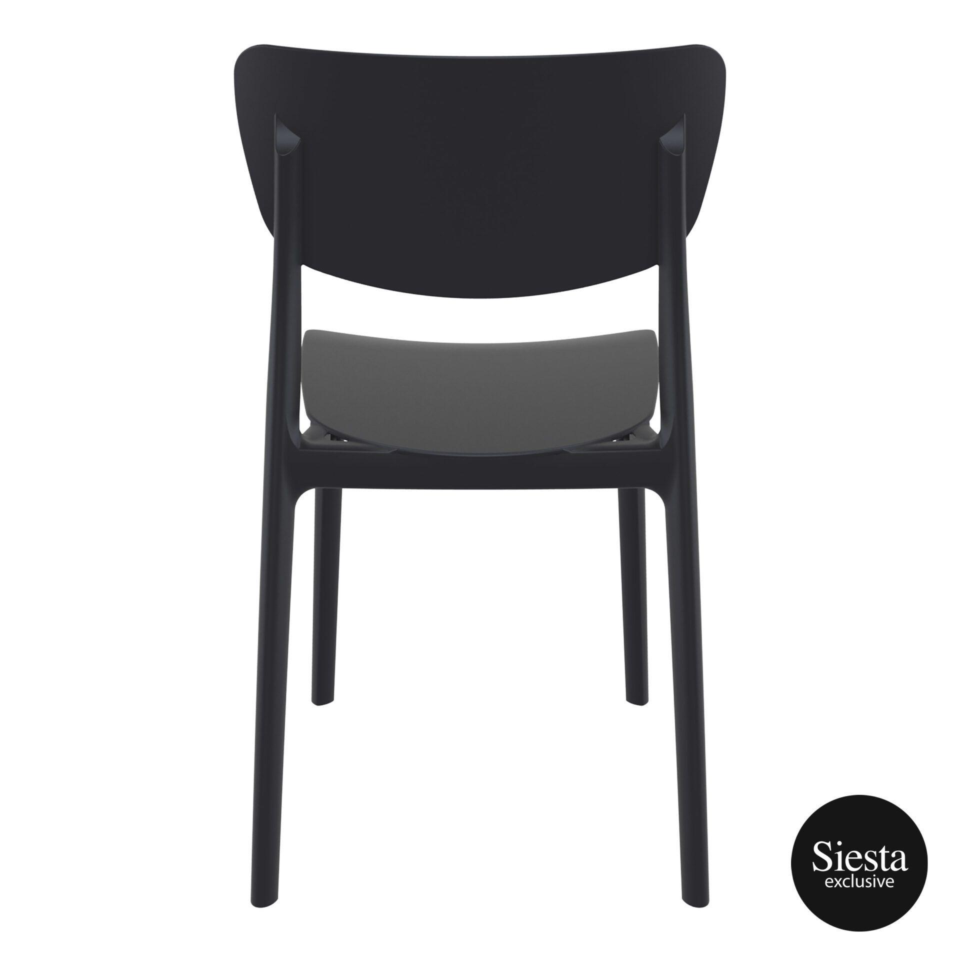 polypropylene outdoor dining monna chair black back 1