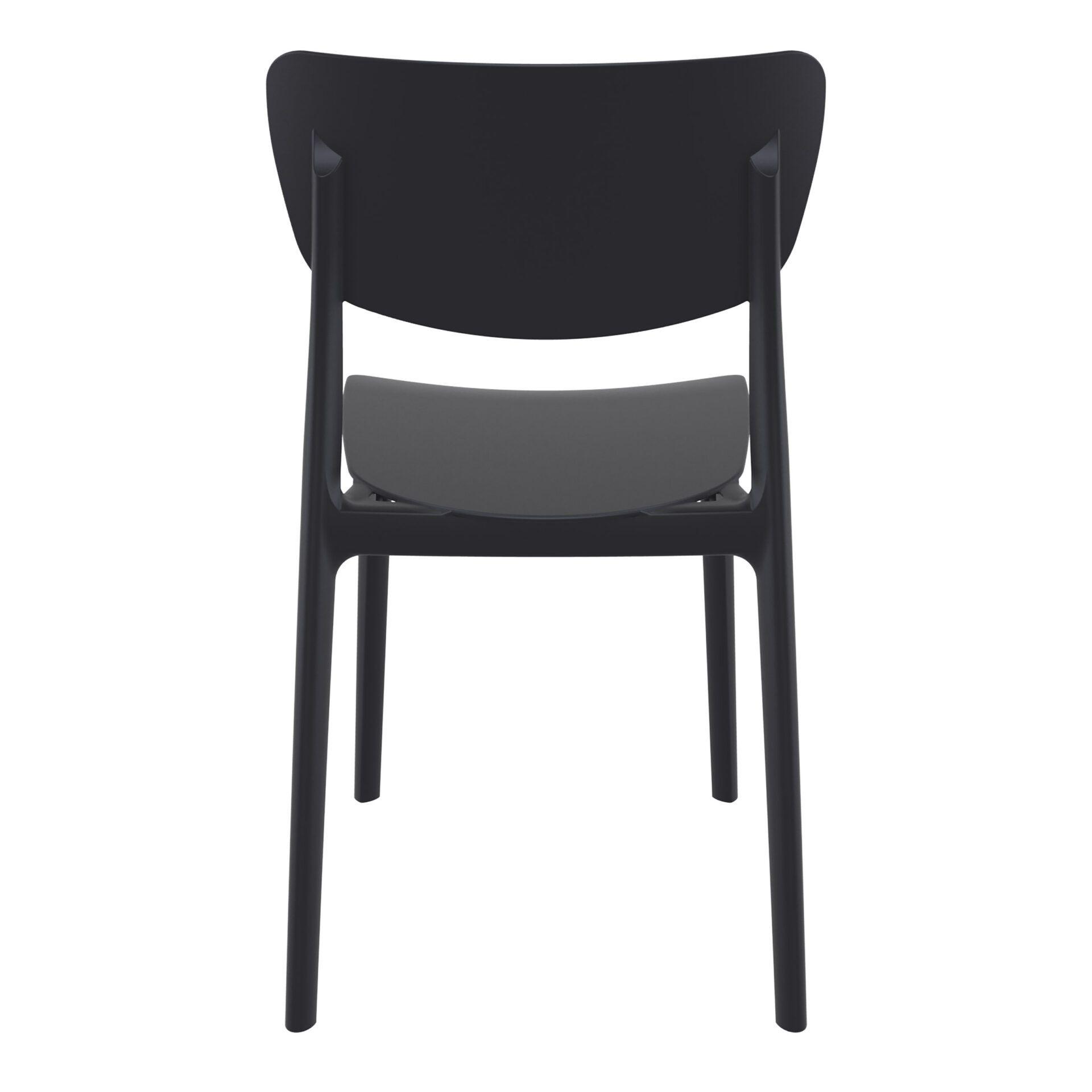 polypropylene outdoor dining monna chair black back