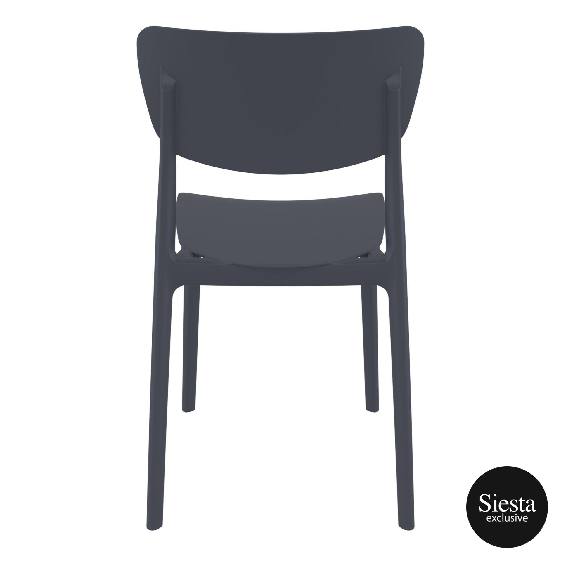 polypropylene outdoor dining monna chair darkgrey back 3