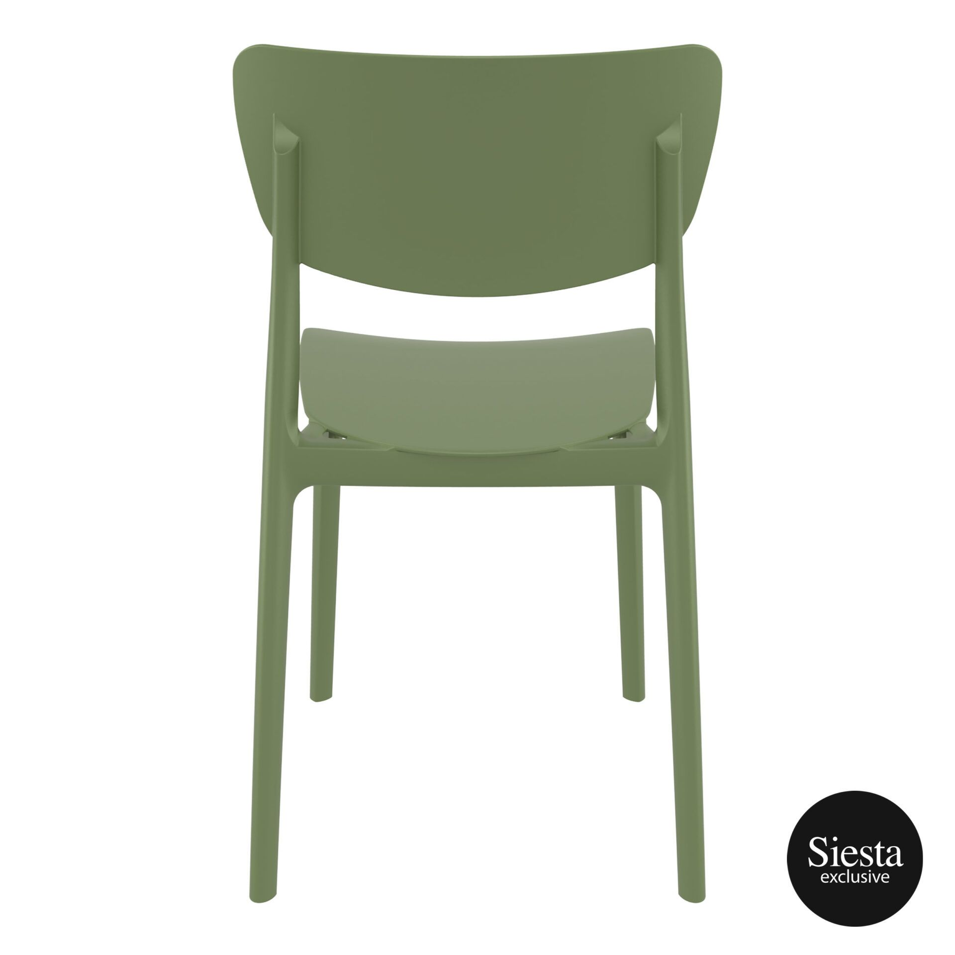 polypropylene outdoor dining monna chair olive green back 1