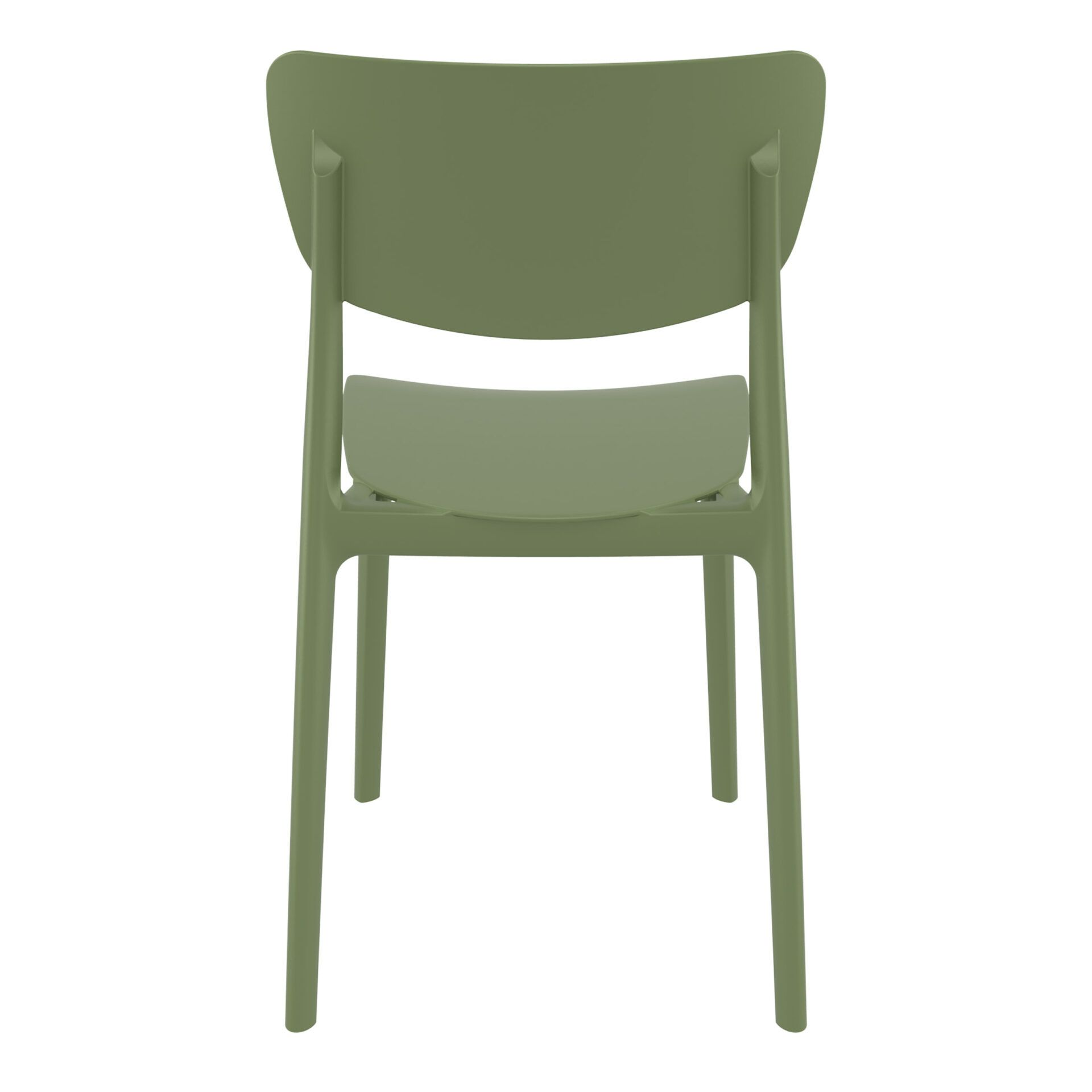 polypropylene outdoor dining monna chair olive green back