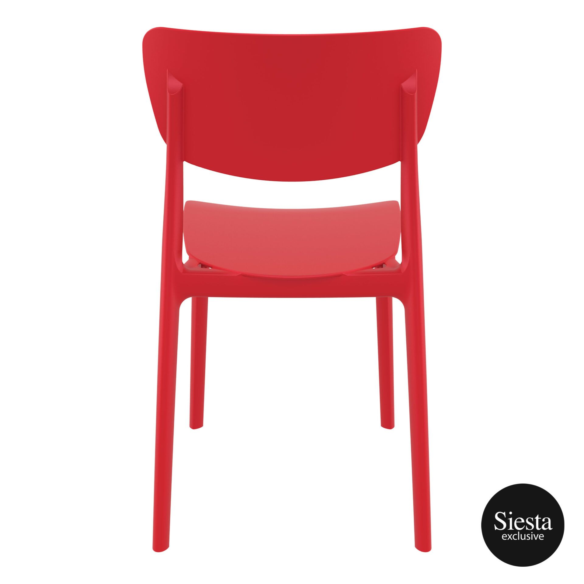 polypropylene outdoor dining monna chair red back 1