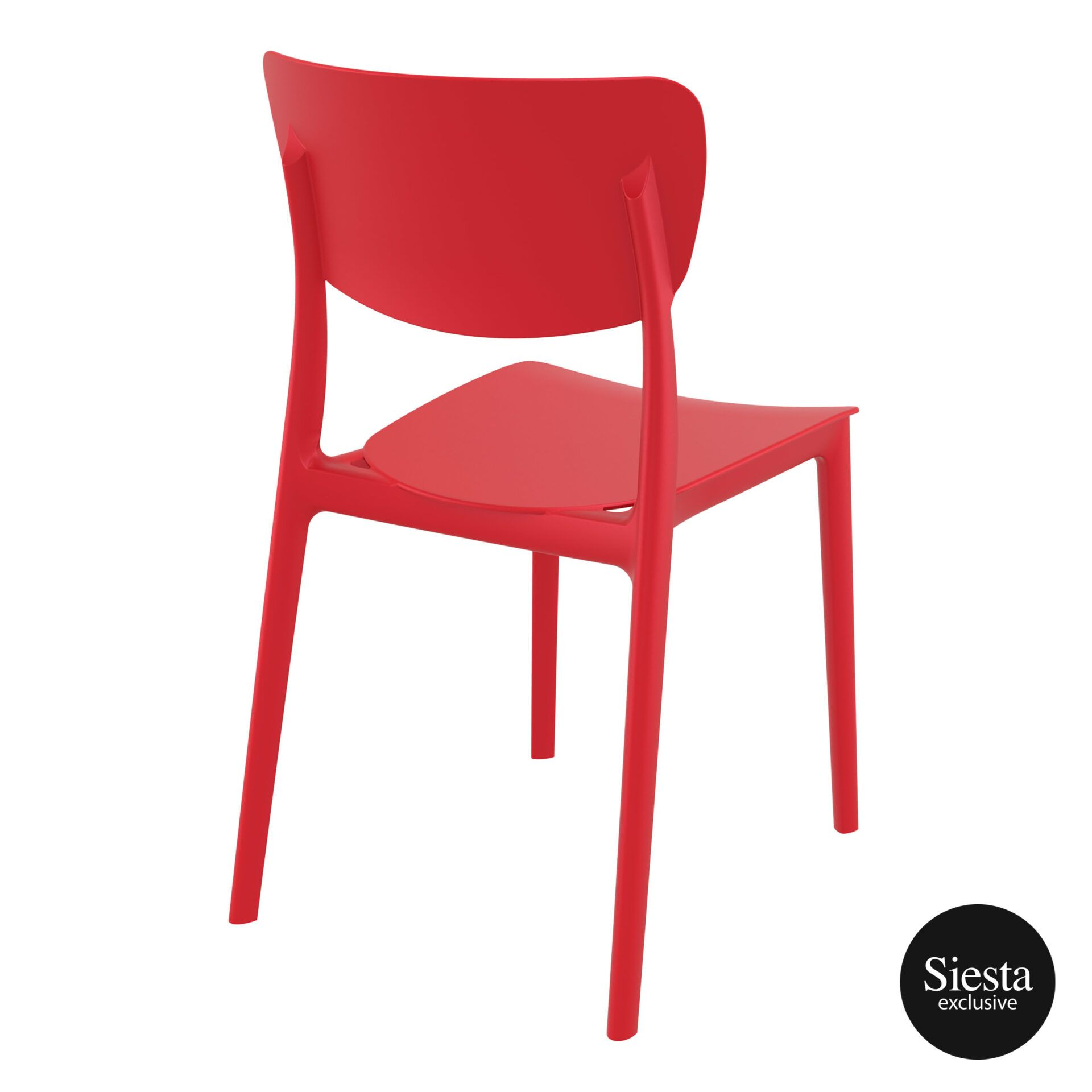 polypropylene outdoor dining monna chair red back side 1