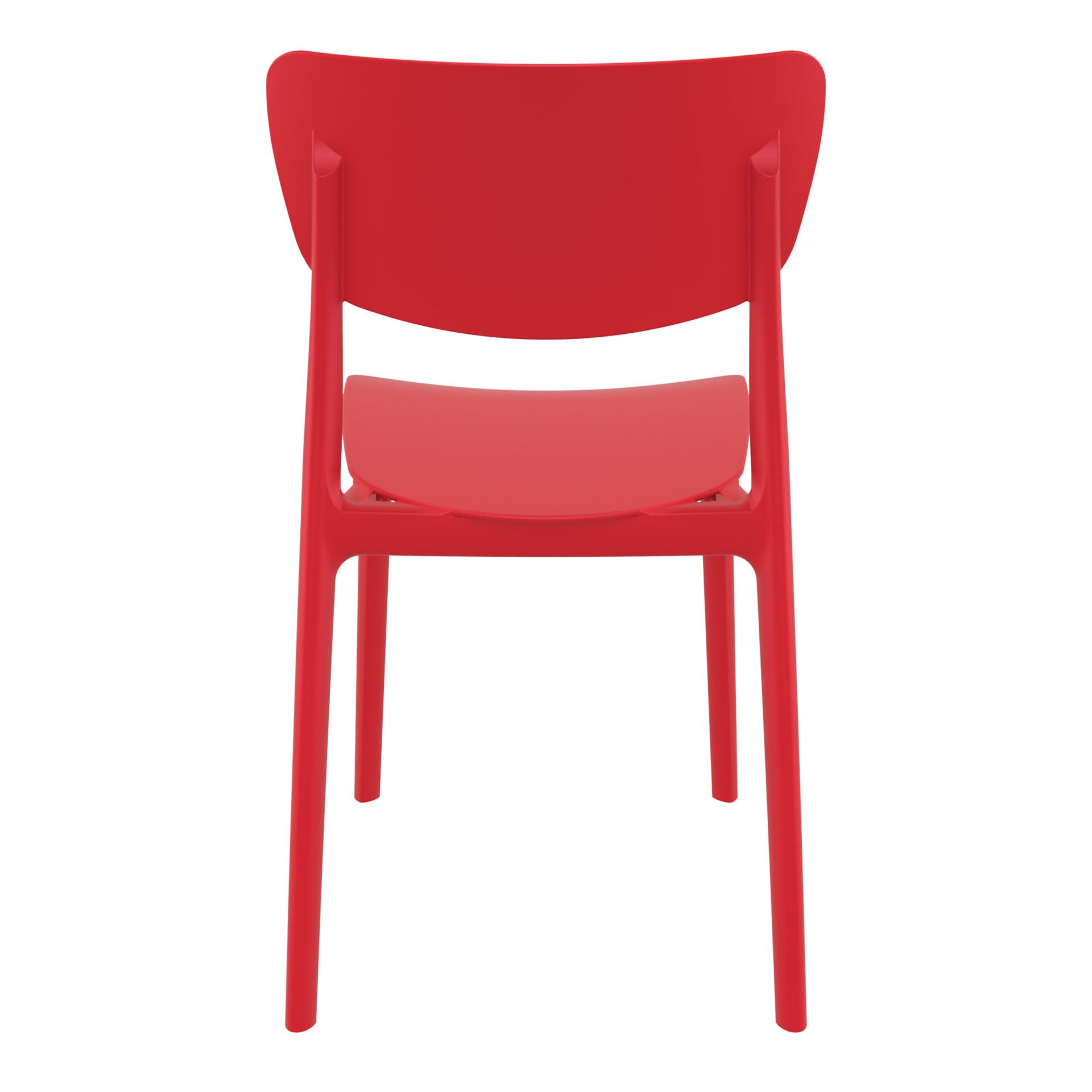 polypropylene outdoor dining monna chair red back