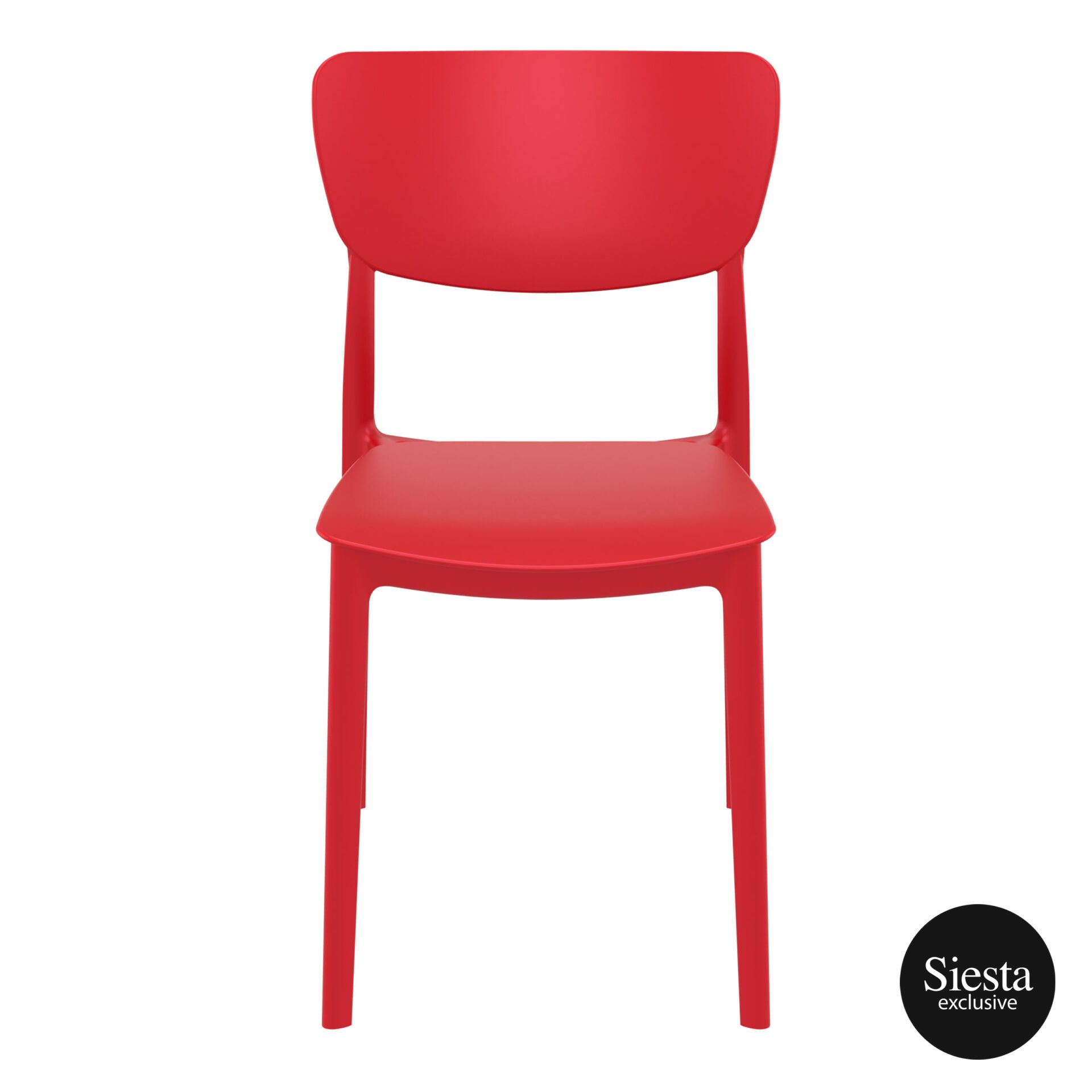 polypropylene outdoor dining monna chair red front 1