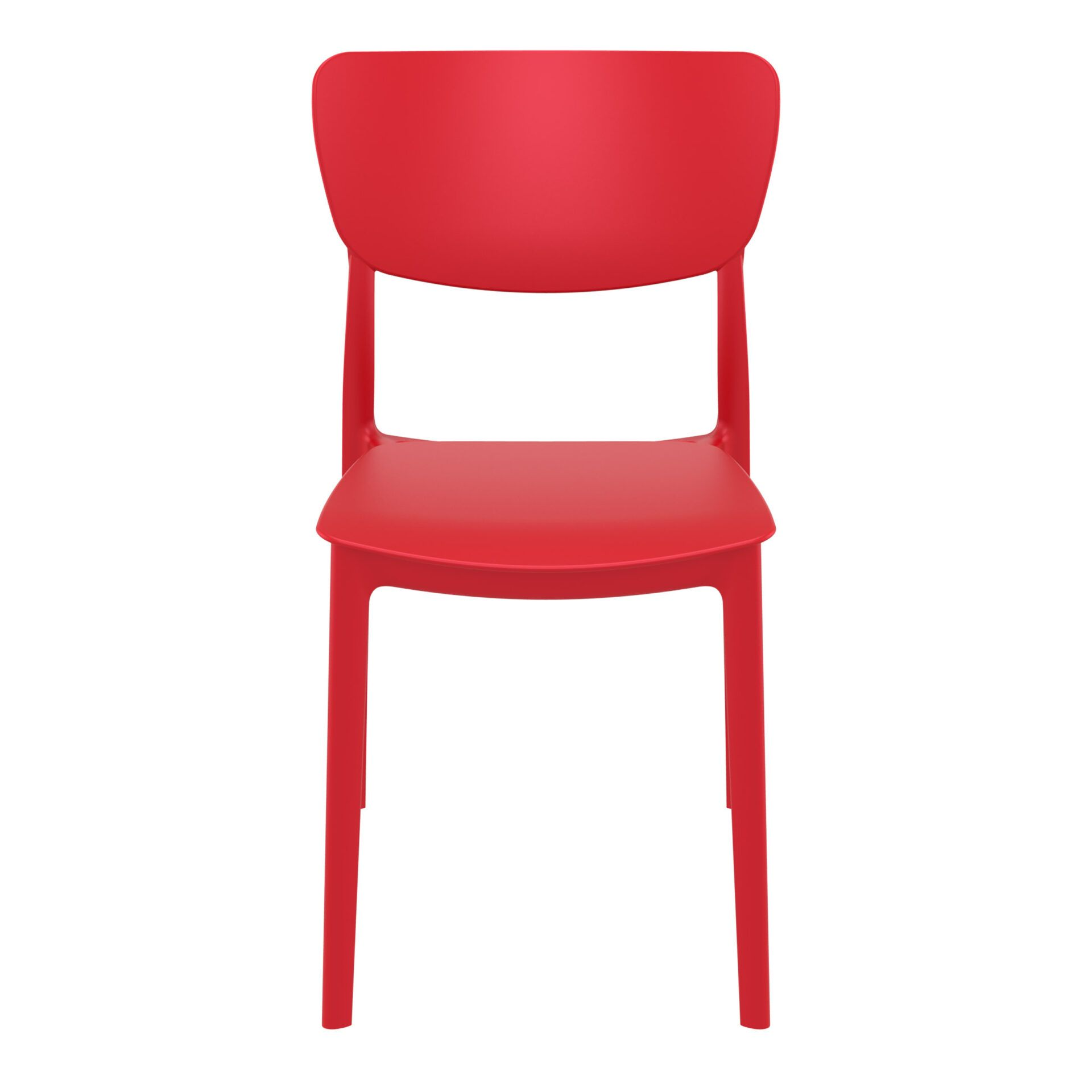 polypropylene outdoor dining monna chair red front
