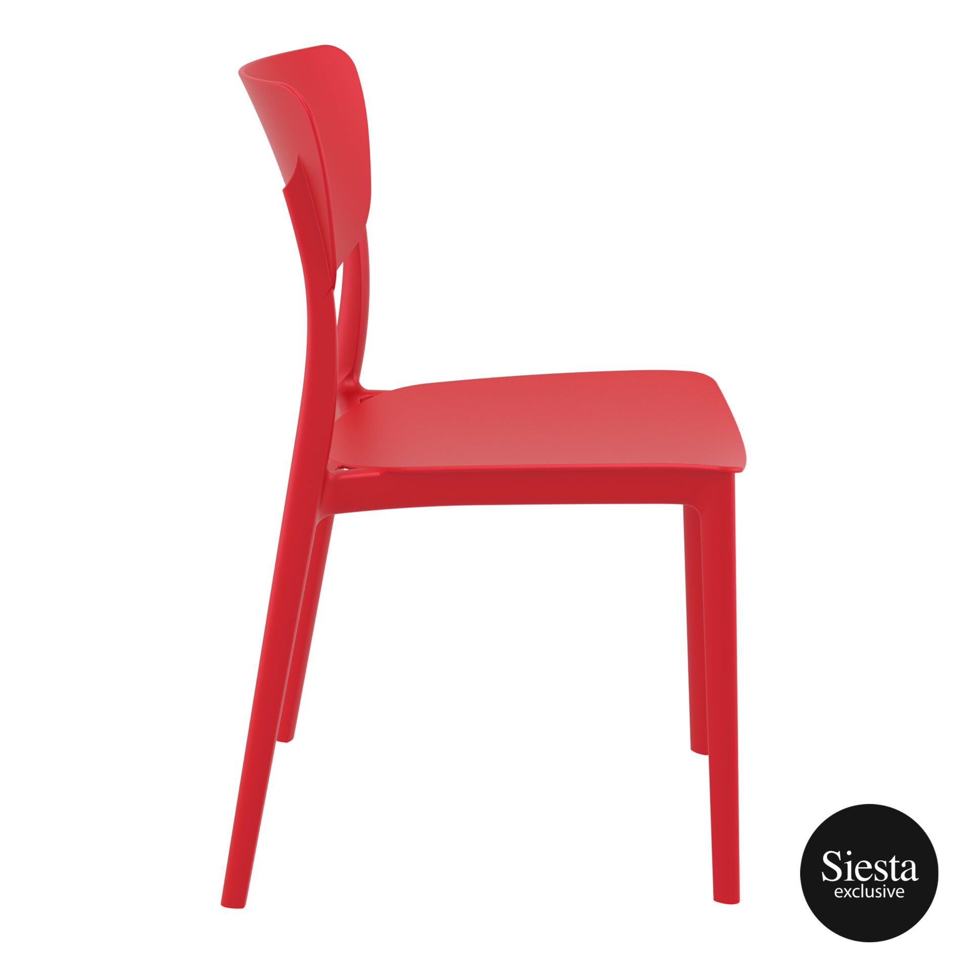 polypropylene outdoor dining monna chair red side 1