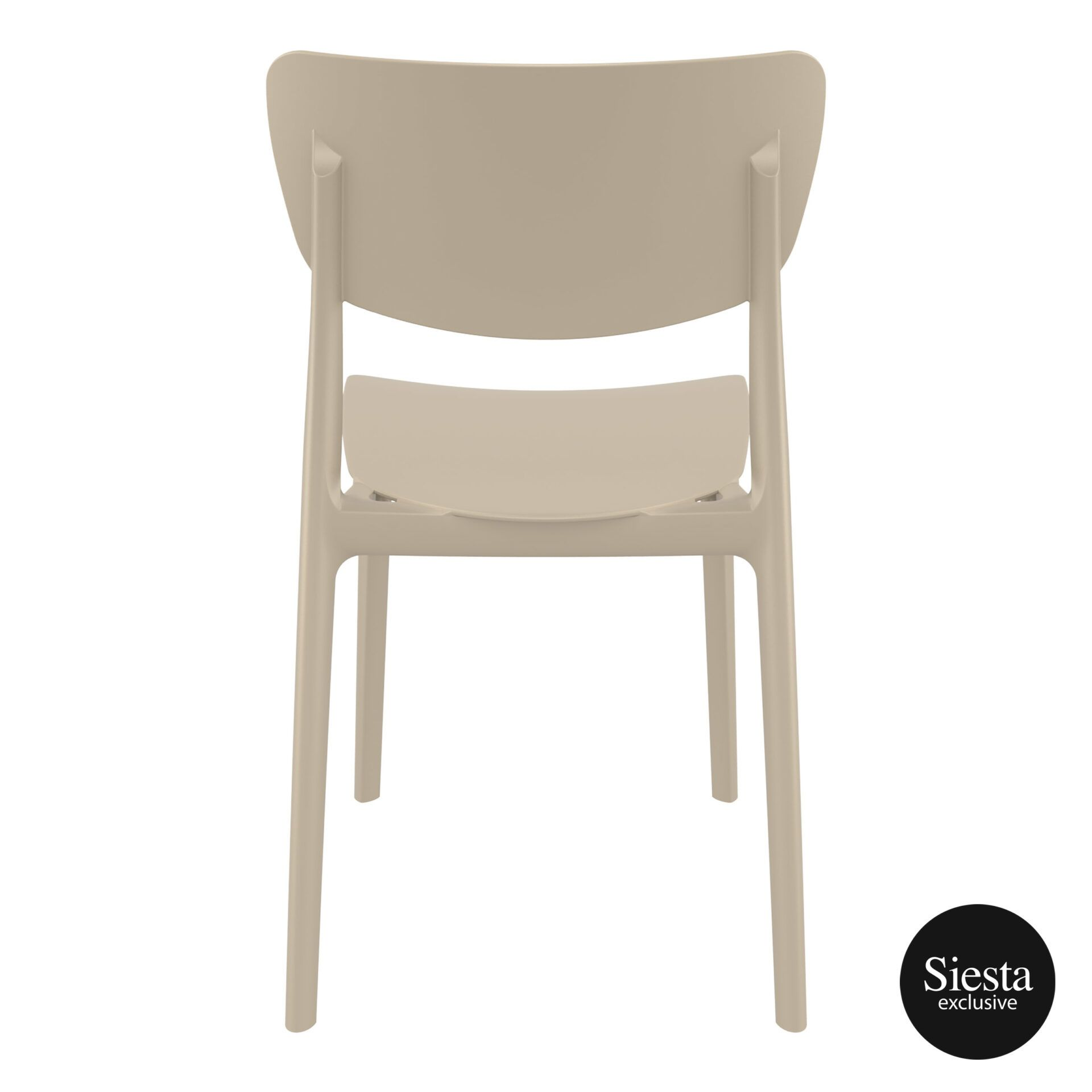 polypropylene outdoor dining monna chair taupe back 1