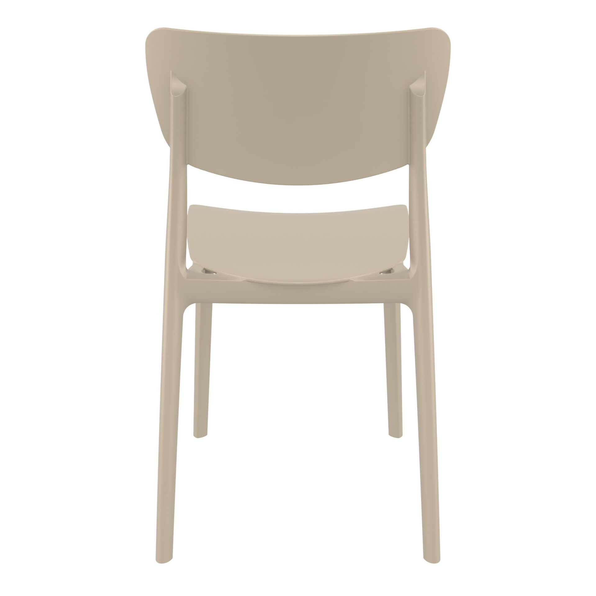 polypropylene outdoor dining monna chair taupe back