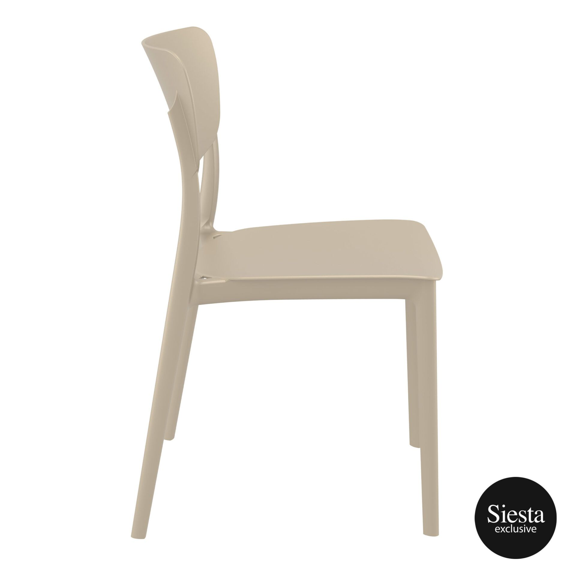 polypropylene outdoor dining monna chair taupe side 1