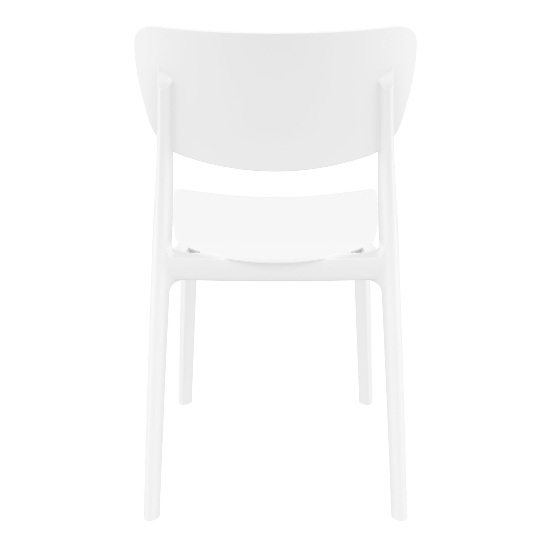 polypropylene outdoor dining monna chair white back