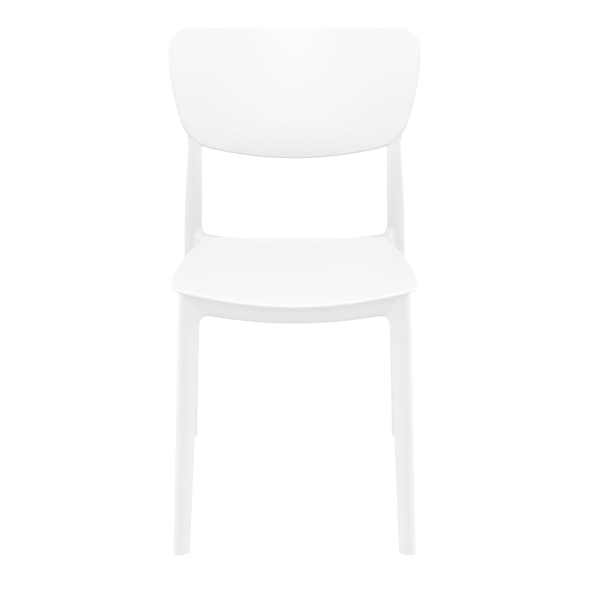 polypropylene outdoor dining monna chair white front