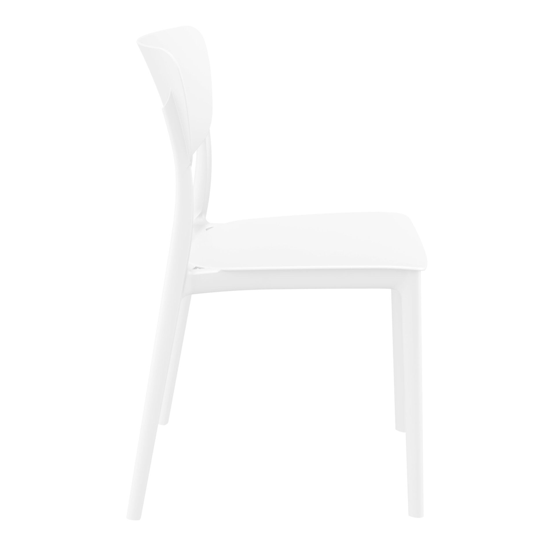 polypropylene outdoor dining monna chair white side