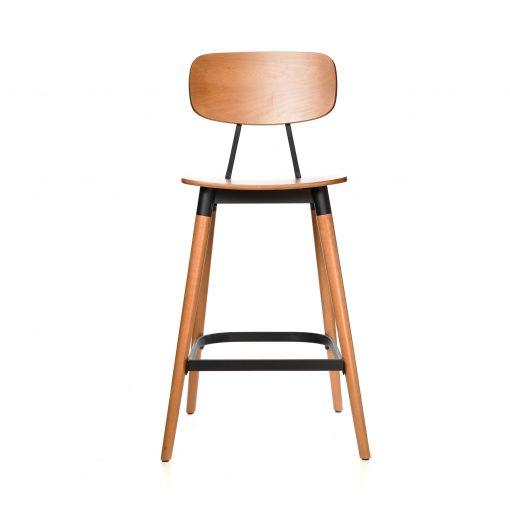 felix barstool – ply seat – lancaster oak – black frame b1 1