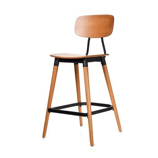 felix barstool – ply seat – lancaster oak – black frame b2
