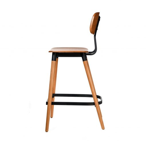 felix barstool – ply seat – lancaster oak – black frame b3