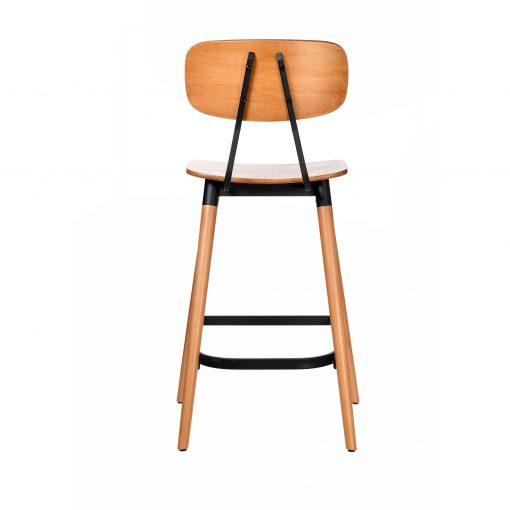 felix barstool – ply seat – lancaster oak – black frame b5