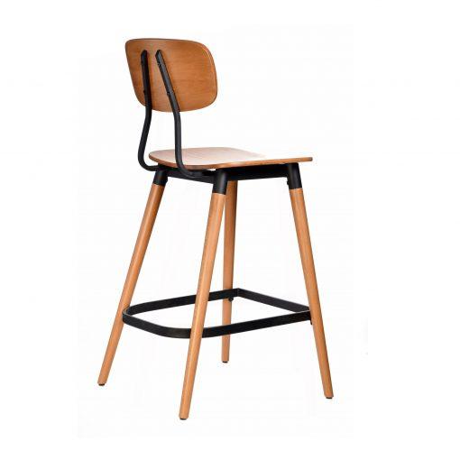 felix barstool – ply seat – lancaster oak – black frame b6