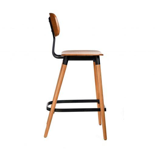 felix barstool – ply seat – lancaster oak – black frame b7