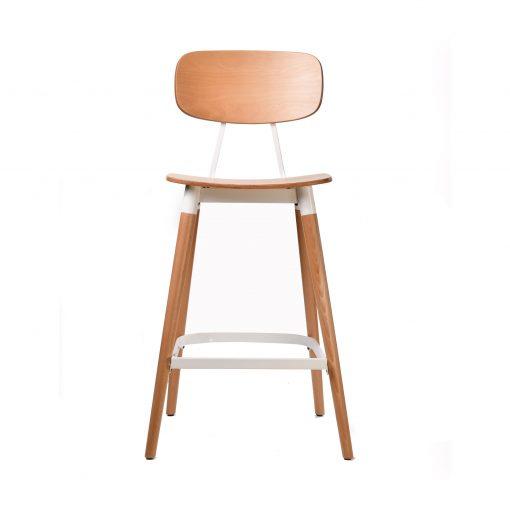 felix barstool – ply seat – natural – white frame p1 1