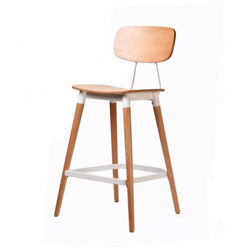 felix barstool – ply seat – natural – white frame p2