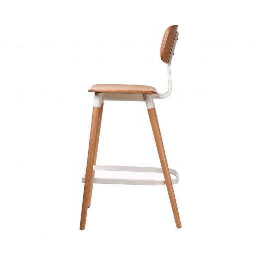 felix barstool – ply seat – natural – white frame p3