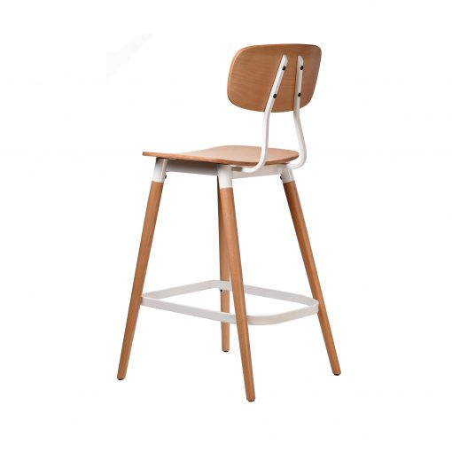 felix barstool – ply seat – natural – white frame p4