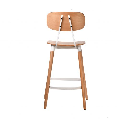 felix barstool – ply seat – natural – white frame p5