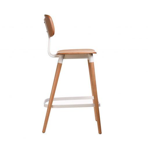felix barstool – ply seat – natural – white frame p7