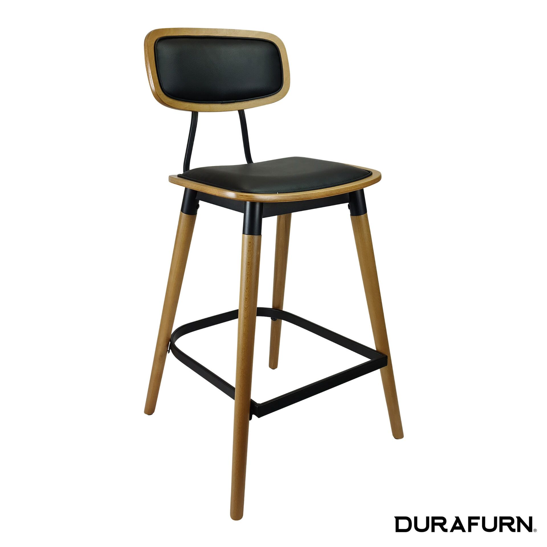 felix barstool natural.black cushion front side