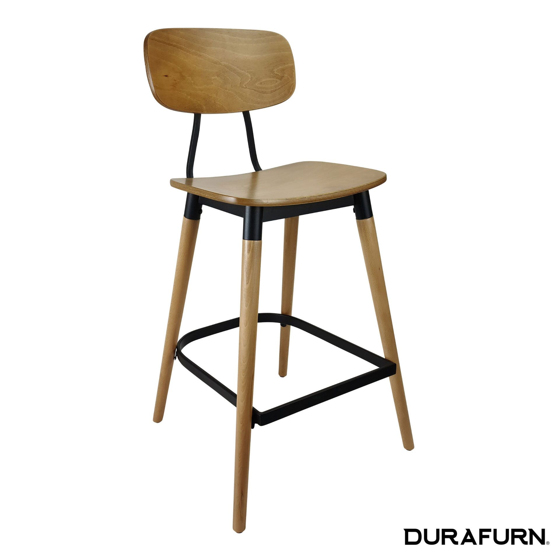 felix barstool natural.black front side