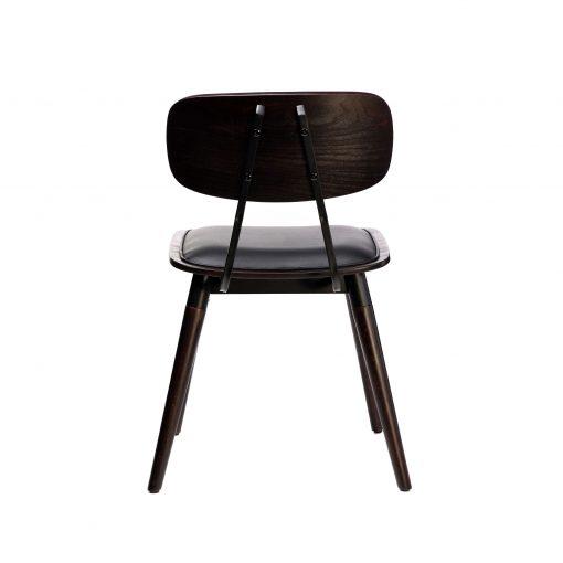 felix chair – black vinyl seat – chocolate – black frame f5