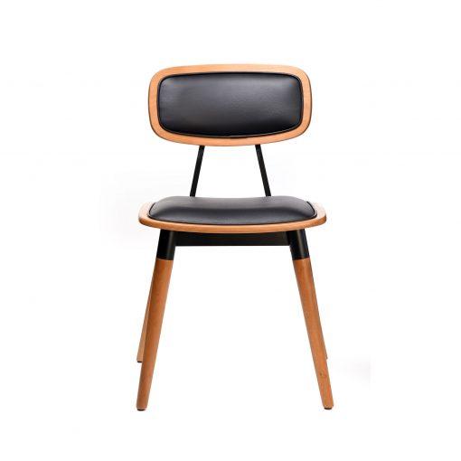 felix chair – black vinyl seat – lancaster oak – black frame g1 1