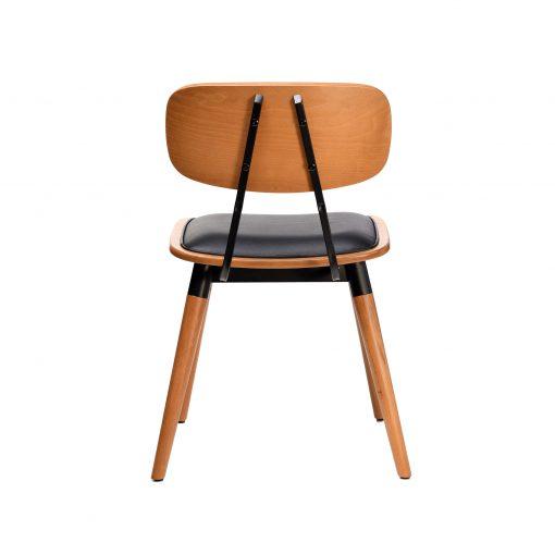 felix chair – black vinyl seat – lancaster oak – black frame g5
