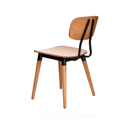 felix chair – ply seat – lancaster oak – black frame i4