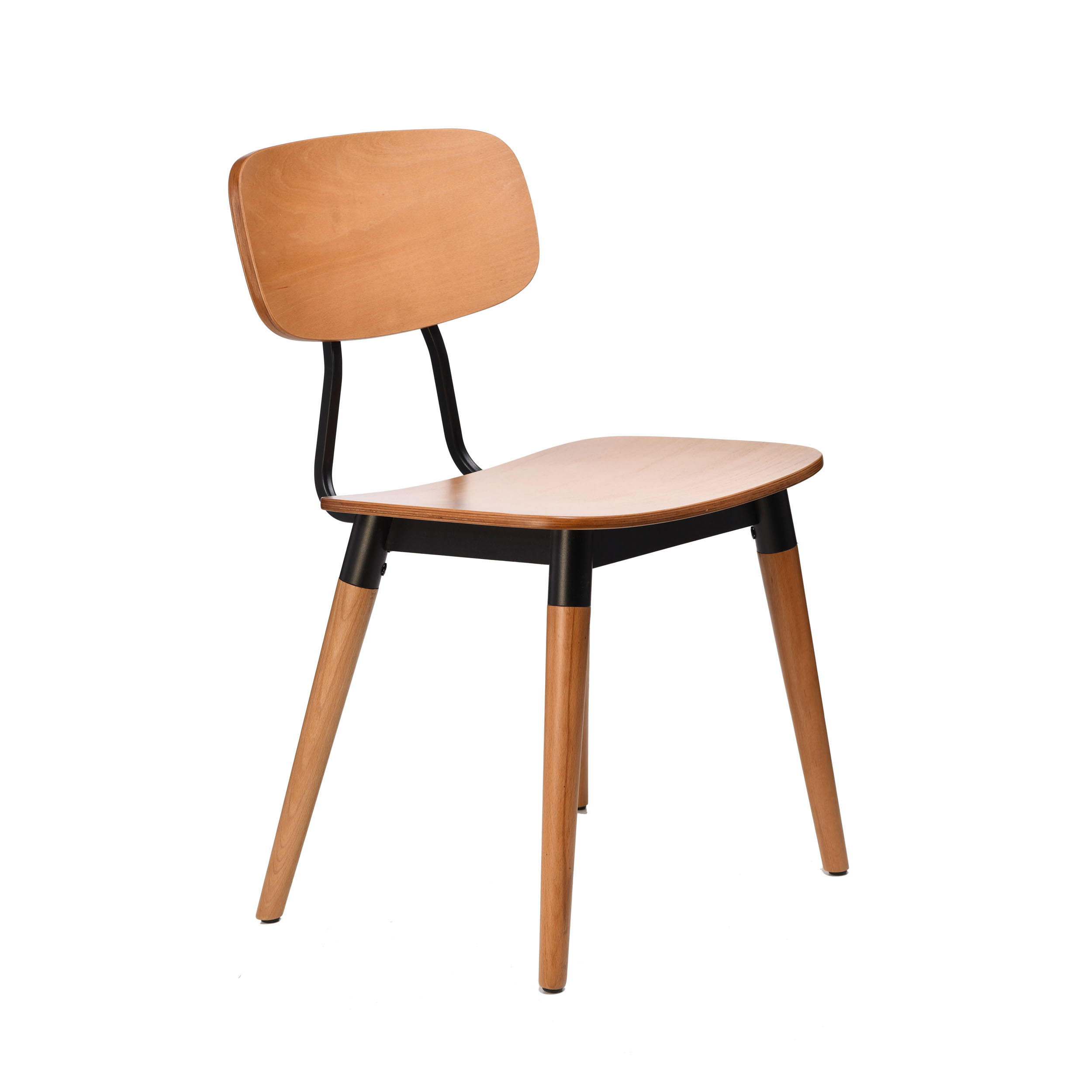 felix chair – ply seat – lancaster oak – black frame i8 1