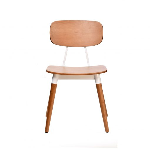 felix chair – ply seat – natural – white frame h1 1