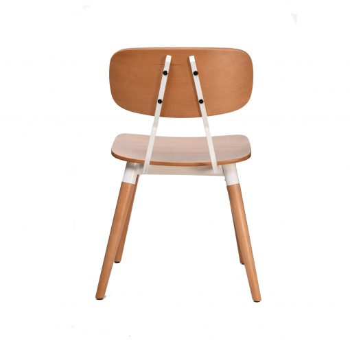 felix chair – ply seat – natural – white frame h5