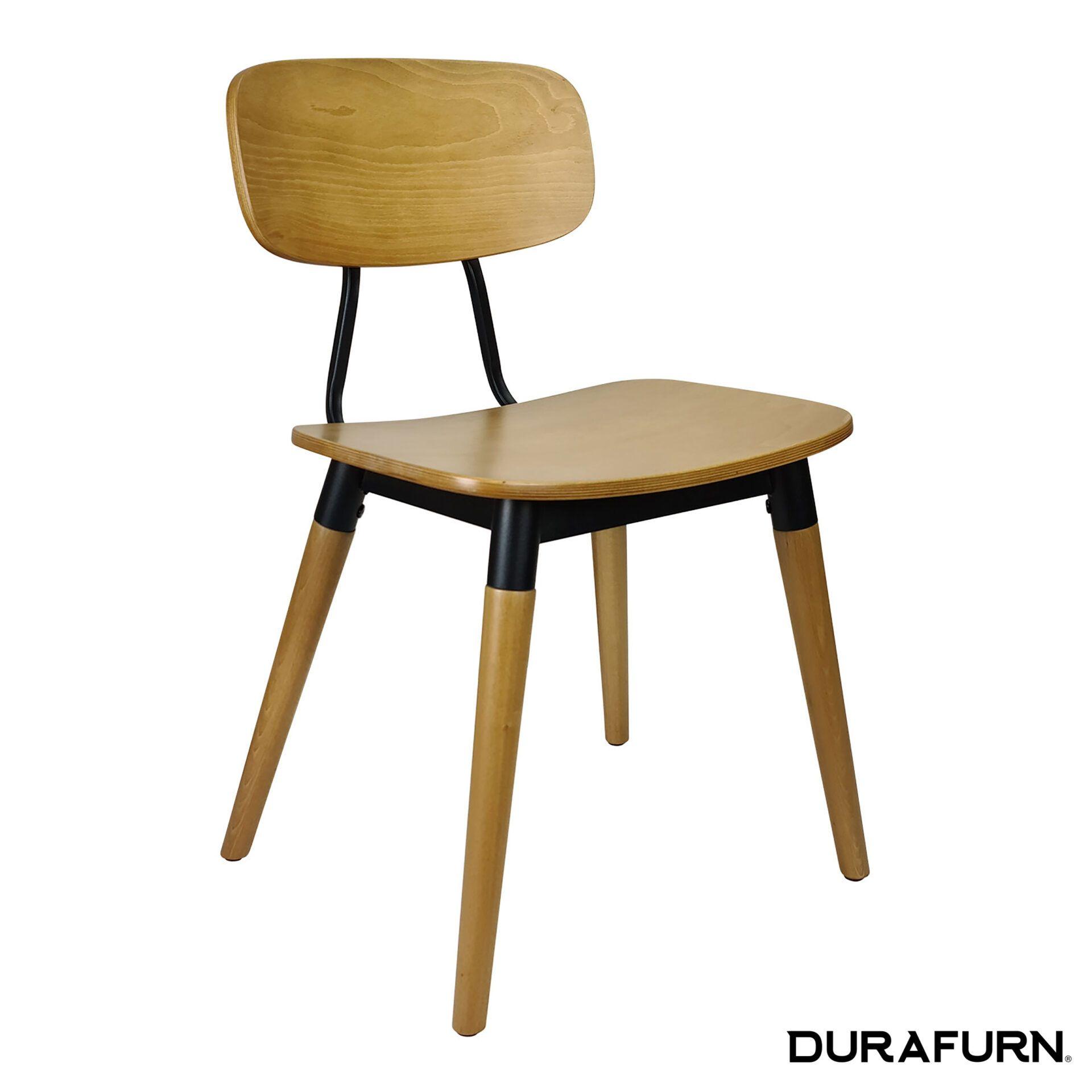 felix chair natural black front side