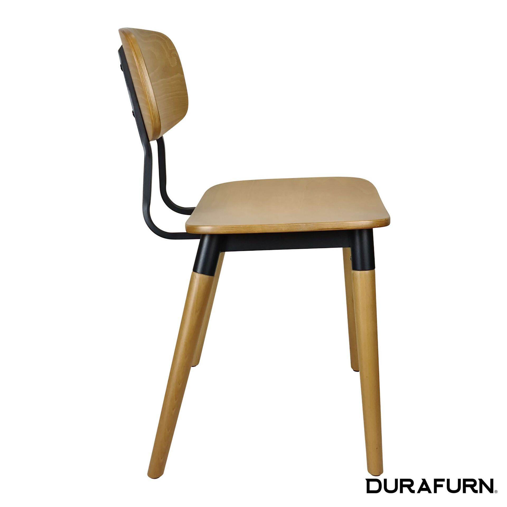 felix chair natural black side