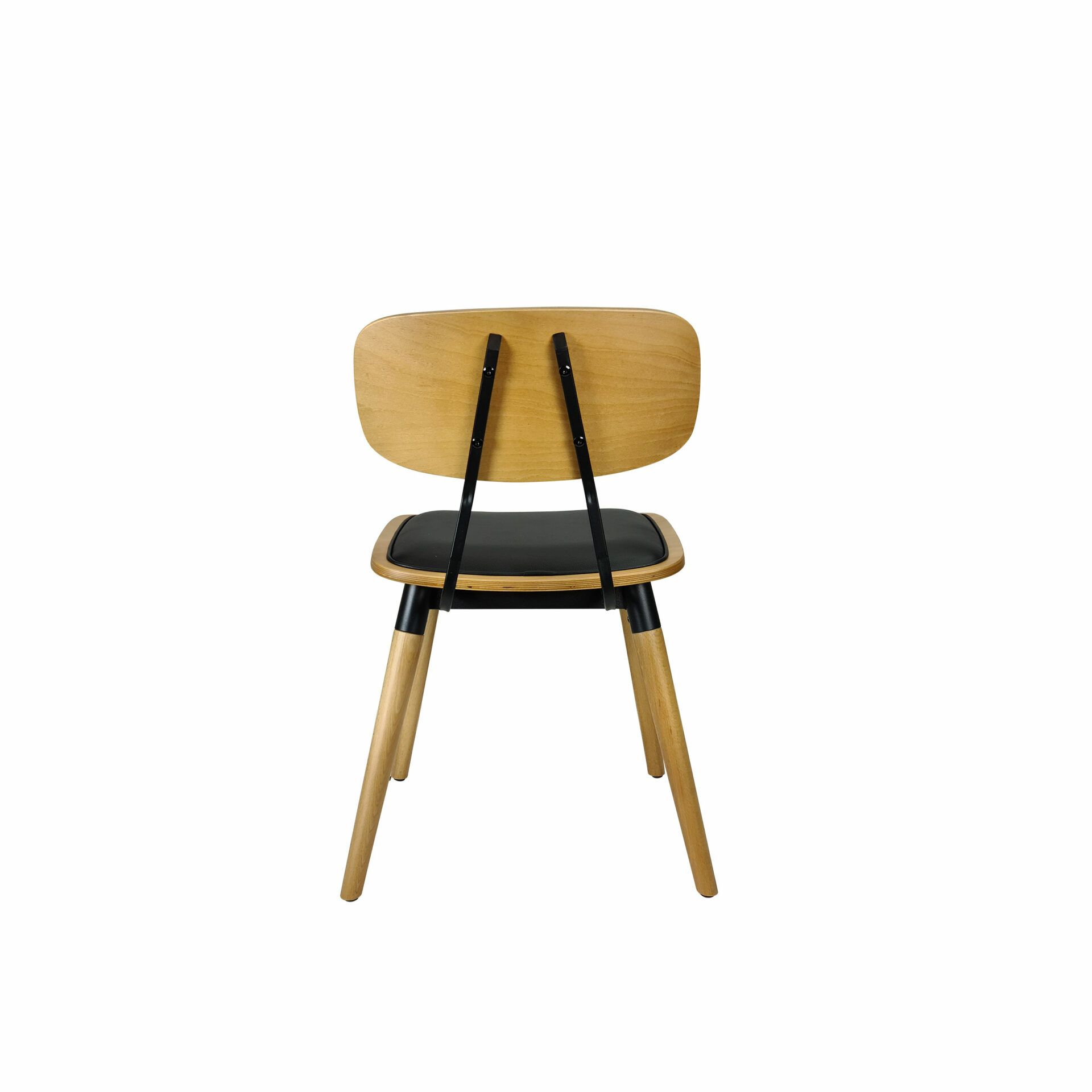 felix chair natural black.cushioned back